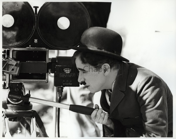 Chaplin on the set of Modern Times (1936)