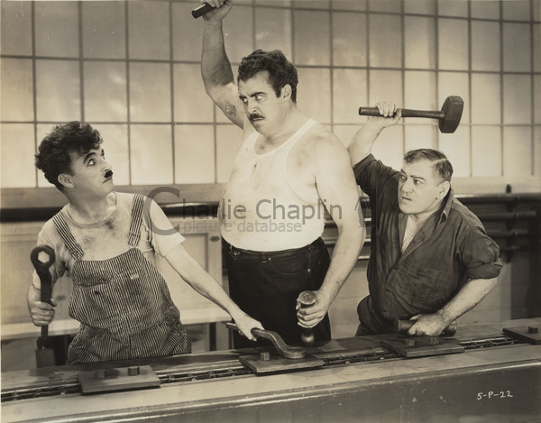 Publicity shot on the Modern Times factory set