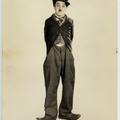 Little tramp portrait from the circus square