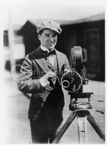 Charles chaplin behind camera big