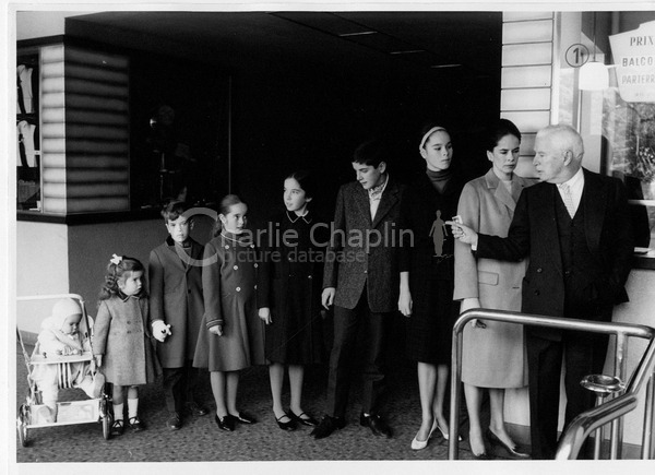 Chaplin and family at cinema switzerland big