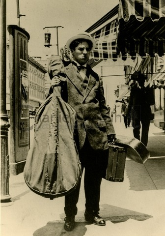Even on tour with Karno in America, Chaplin carried his cello and violin with him
