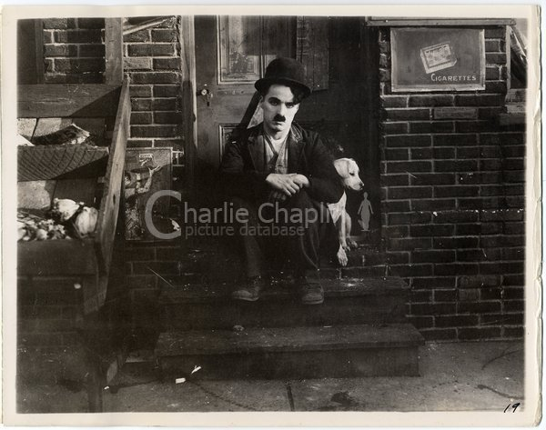 Charlie and Mutt, also known as Scraps, on the set of A Dog's Life