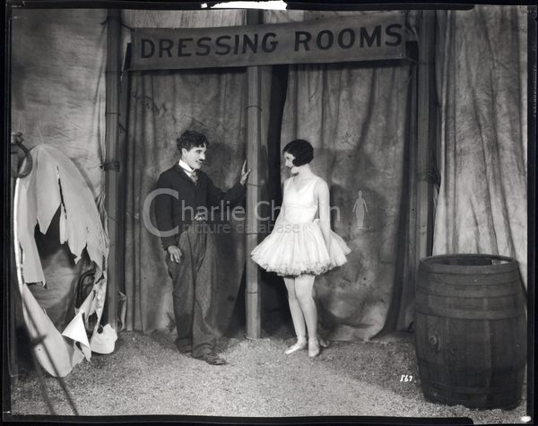 Chaplin and Merna Kennedy in The Circus