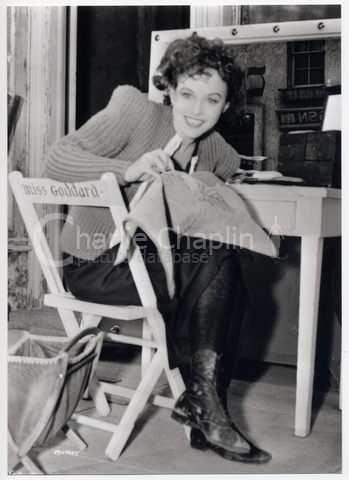Paulette goddard great dictator set pub 156 big
