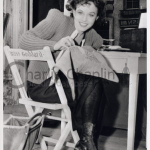 Paulette goddard great dictator set pub 156 midsquare