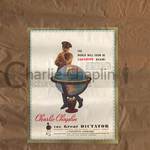 Great dictator globe poster color midsquare