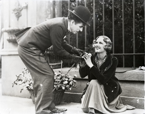 Charlie Chaplin and Virginia Cherrill in City Lights (1931)