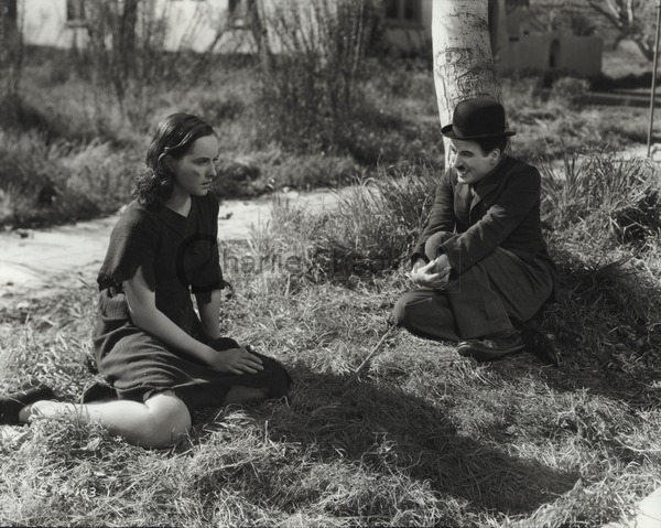 Paulette Goddard and Chaplin in Modern Times, 1936