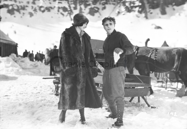 Lita Grey and Chaplin on location in Truckee, California