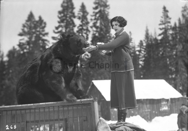 Lita Grey on location during the shooting of The Gold Rush