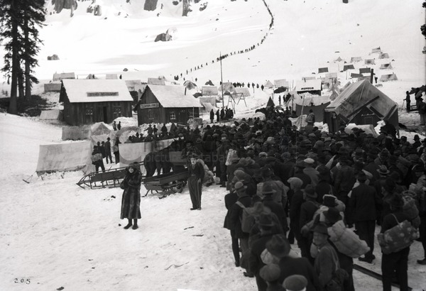 Chaplin's replica of Chilkoot Pass was shot on location in Truckee, California