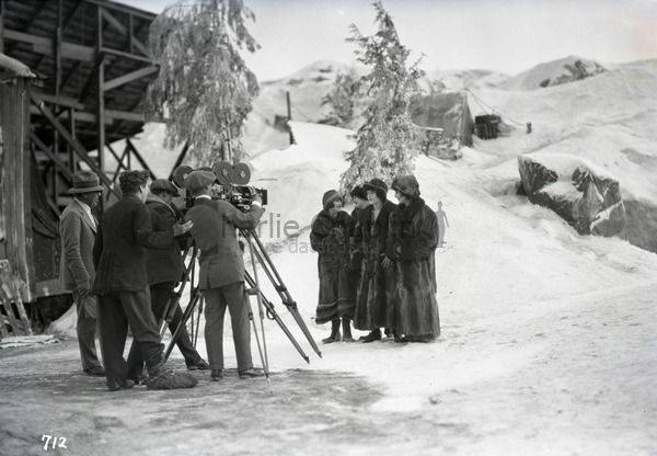 On the set of The Gold Rush
