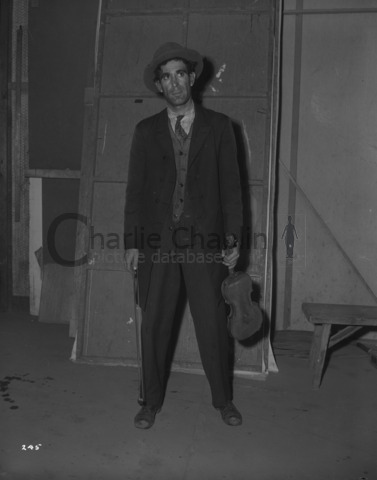 Julian Ludwig in costume on the set of Limelight