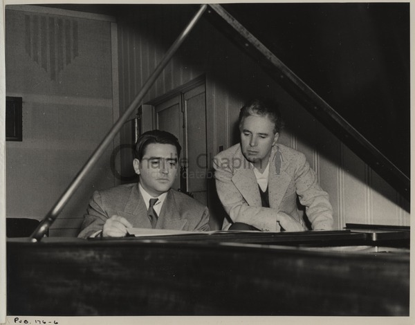 With Meredith Willson, 1940