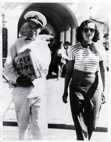 Charlie Chaplin and Paulette Goddard, Catalina Island, 1934