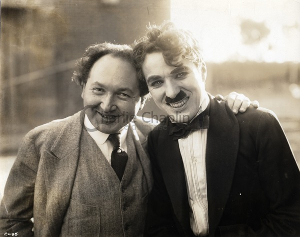 Pianist and composer Leopold Godowsky with Charlie Chaplin, 1916