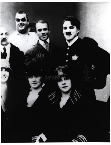 The great Russian dancer Vaslav Nijinsky visits Chaplin on the set of Easy Street