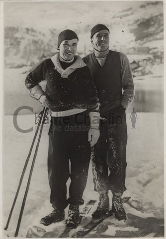 Charlie Chaplin and Douglas Fairbanks in St. Moritz