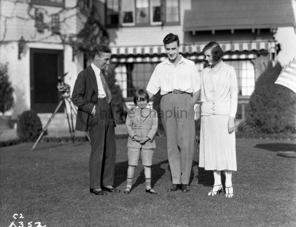 Charles Chaplin, Jackie Coogan, Edwina and Louis Mountbatten, 1922