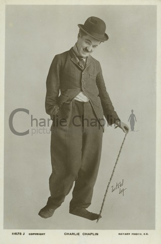 Chaplin photo by Witzel, 1914