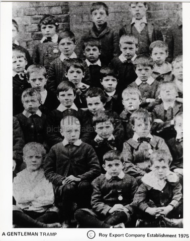 Chaplin (center) at the Hanwell Schools, 1897