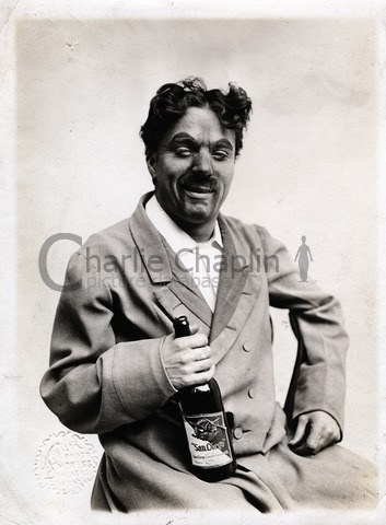 Chaplin in costume as an inebriate for a Karno comedy sketch, 1911