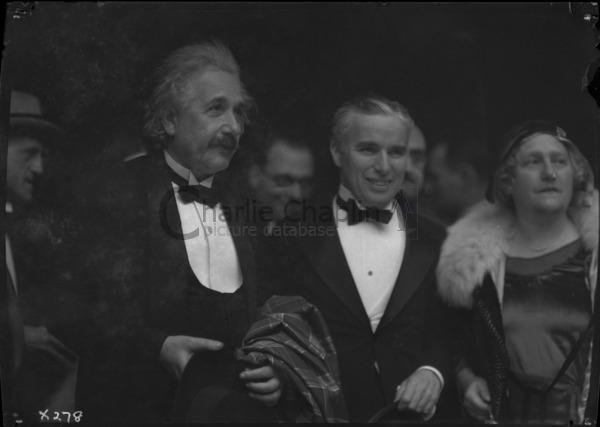 Chaplin with Albert Einstein and his wife at the premiere of City Lights