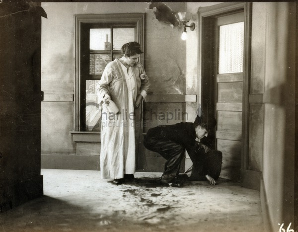 Phyllis Allen and Charlie Chaplin in Pay Day