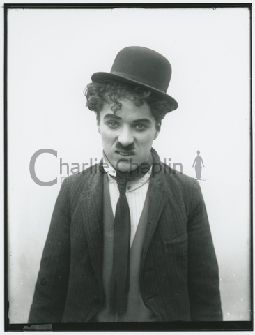 Chaplin dressed as the Tramp, circa 1914