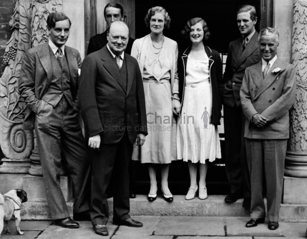 Cc with churchill and family  chartwell manor  westerham  kent. sept 19  1931 big