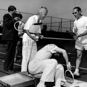 Cc  fred perry   groucho marx. beverly hills tennis club. 14 july 1937 midsquare