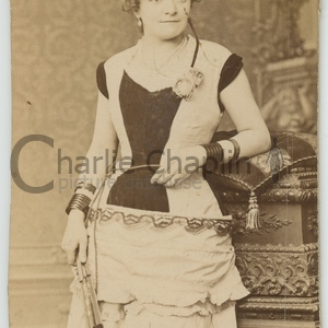 Chaplin s mother hannah in stage costume midsquare