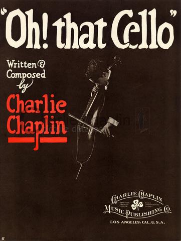 """Couverture de """"Oh! That Cello"""", partition éditée par la Charlie Chaplin Music Publishing Co."""